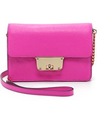 MILLY - Astor Cross Body Bag - Pink - Lyst