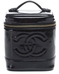 Chanel Pre-Owned Patent Leather Vertical Cosmetic Case - Lyst