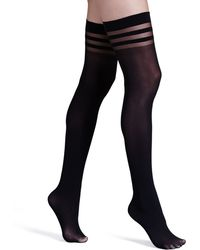 Alice + Olivia | Opaque Thigh-high Stockings By Pretty Polly | Lyst
