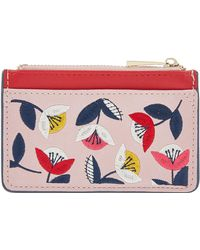 Accessorize - Retro Floral Ziptop Card Holder - Lyst