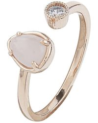 Accessorize | Rose Gold Open Stone Ring | Lyst