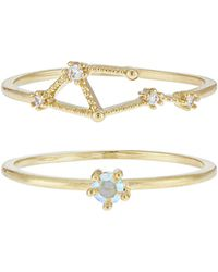 Accessorize - October Birthstone Stacking Ring Set - Lyst