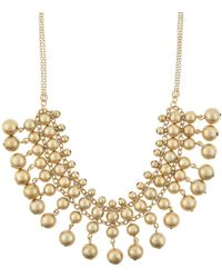 Accessorize - Brushed Beads Collar Necklace - Lyst