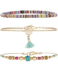Accessorize - 3x Dreamcatcher Anklet Pack - Lyst
