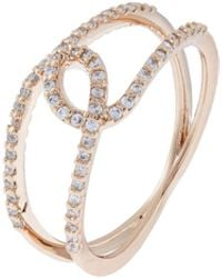 Accessorize | Rose Gold Twisted Pave Ring | Lyst