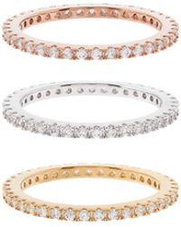 Accessorize - Rose Gold Mega Bling Sparkle Ring Set - Lyst