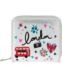Accessorize - London Badge Print Small Wallet - Lyst