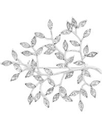 Accessorize - Navette Leaf Sparkle Brooch - Lyst