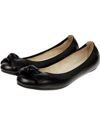 Accessorize - Leather Elastic Bow Ballerina Flats - Lyst