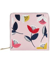 Accessorize - Retro Floral Embroidered Wallet - Lyst