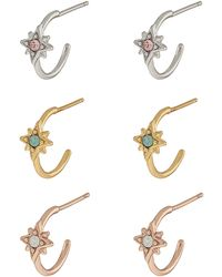6e80d9317 Accessorize 3x Flat Back Earrings With Swarovski® Crystals - Lyst