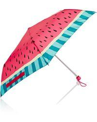 Accessorize - Watermelon Printed Superslim Umbrella - Lyst