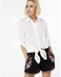 Accessorize - Zanzibar Embroidered Shorts - Lyst
