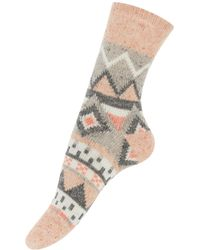 Accessorize - Fair Isle Thermal Wool Socks - Lyst