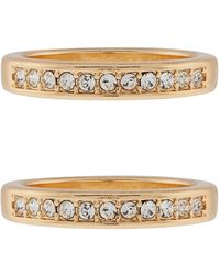 Accessorize - 2x Stacking Rings With Swarovski® Crystals - Lyst