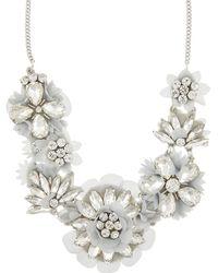 Accessorize - Clara Sparkle Flower Necklace - Lyst