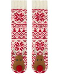 Accessorize - Reindeer Slipper Sock - Lyst