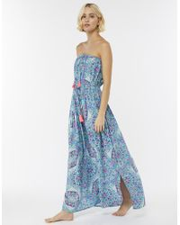 Accessorize - Mandala Print Maxi Bandeau Dress - Lyst