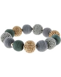 Accessorize - Textured Balls Stretch Bracelet - Lyst