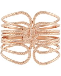 Accessorize - Rose Gold Open Cuff Bracelet - Lyst