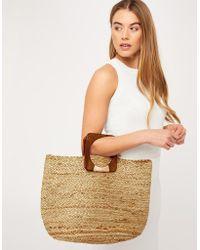 918d33444 Accessorize - Mila Circle Handle Straw Bag - Lyst. Accessorize - Harpreet Tote  Bag - Lyst