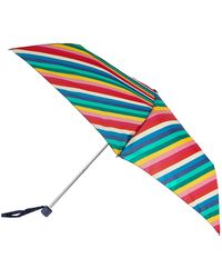 Accessorize - Rainbow Stripe Superslim Umbrella - Lyst