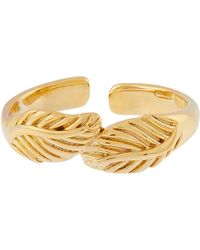 Accessorize - Gold-plated Leaf Wrap Toe Ring - Lyst