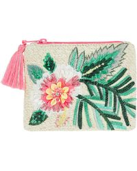 Accessorize - Hibiscus Embroidered Coin Purse - Lyst