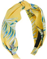 Accessorize - Hawaii Print Wide Fabric Alice Hair Band - Lyst