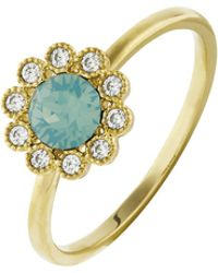 Accessorize - Flower Ring With Swarovski® Crystals - Lyst
