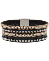 Accessorize - Diamante Magnetic Cuff Bracelet - Lyst