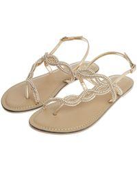 d67b78c8b20fe Accessorize Jasmine Thong Sandals in Metallic - Lyst
