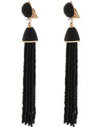 Accessorize - Clip On Beaded Tassel Earrings - Lyst