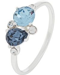 Accessorize - Sterling Silver Cluster Ring With Swarovski® Crystals - Lyst