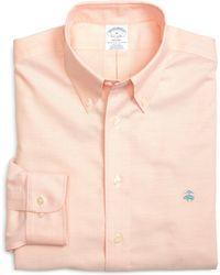 Brooks Brothers Non-iron Slim Fit Oxford Sport Shirt - Lyst