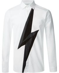 Neil Barrett Lightning Bolt Shirt - Lyst