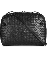 Bottega Veneta Cubo Small Intrecciato Cross-Body Bag - For Women - Lyst
