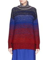 Helen Lee - Ombré Intarsia Knit Turtleneck Sweater - Lyst