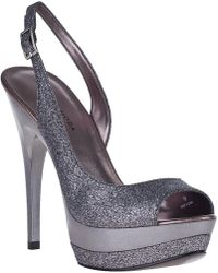 Pelle Moda Gleam Evening Sandal Pewter Glitter - Lyst