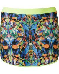 Blue Man - Butterfly Print Skort - Lyst