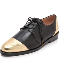 Thakoon Addition - Metallic Oxfords - Black/Gold - Lyst