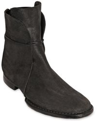 Barny Nakhle Coated Horse Leather Lace Up Boots - Lyst