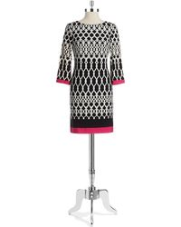 Eliza J Geometric Patterned Sheath Dress - Lyst