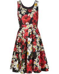 Dolce & Gabbana | Floral Print Dress | Lyst