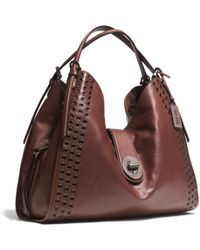 Coach Madison Grommets Large Carlyle Shoulder Bag in Leather - Lyst