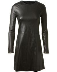 The Row Black Stretch Leather Dress - Lyst
