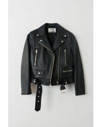 Acne Studios Mock Black Motorcycle Jacket