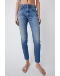 Acne Studios - High Waisted Jeans mid Blue - Lyst