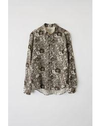 Acne Studios - Isherwood Floral W Dark Brown/white Classic Fit Shirt - Lyst