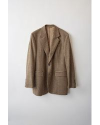 Acne Studios - Fn-mn-suit000005 Beige/brown Tailored Blazer - Lyst